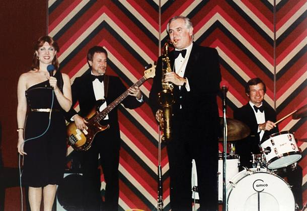 Saxe's father, Richard, in his sax-playing days.