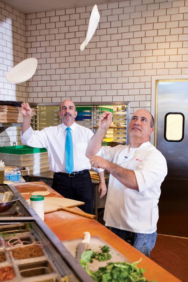 Sam Facchini, left, and John Arena want to teach pizza to the masses at Metro.
