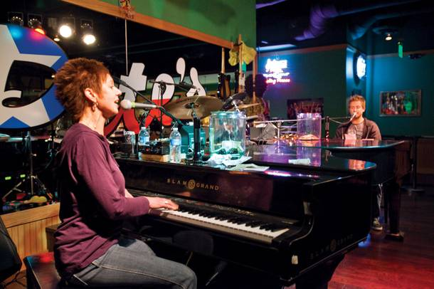 The Town Square bar offers dueling piano action—and some raunchy comedy.