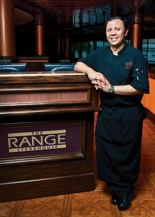 Specialty room chef of The Range at Harrah's John Witte incorporates touches of Hawaii into his Strip dishes.