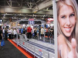 Thousands of industry folks gathered to check out the latest in nightlife at the 2012 Nightclub & Bar Trade Show. This coin-operated, mini bowling alley would be great in my living room.