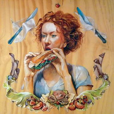 "Best in show winner Joanna Lord's ""Girl With Sandwich"""