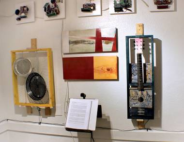 Image from Sanchez Burr's Somebody Kill the Radio exhibit at Kleven Contemporary in 2012.