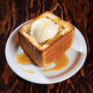 Impending hangover, meet honey toast.