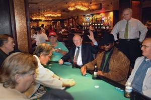 "Jackie Gaughan is a man of the people, which is why he still plays cards among them. Mike Nolan, general manager and COO of the El Cortez, says this of the old days, when he and Jackie used to make the rounds on Fremont: ""Any customer, any employee could go up and talk to Jackie any time they wanted. And that was the difference. A lot of owners back then didn't even live in this town, but Jackie was right here."""