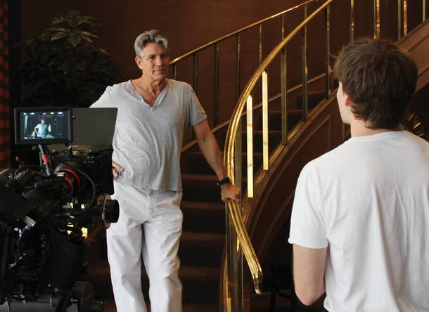 Eric Roberts on the set of Stealing Las Vegas.