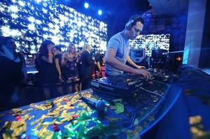 DJ Tiesto, at XS in January, uses the web to stream performances to fans around the world.