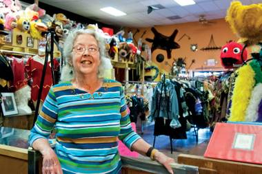 The costume shop owner intended to stay in town for two weeks — she stayed a lifetime.