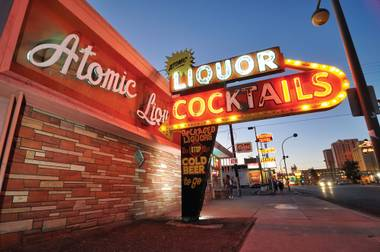 A view of Atomic Liquors, the oldest standing bar in Las Vegas, on Fremont Street, June 27, 2012.