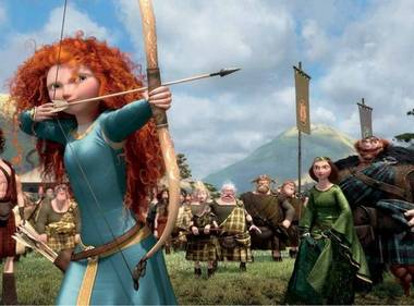 Merida takes aim in Brave.