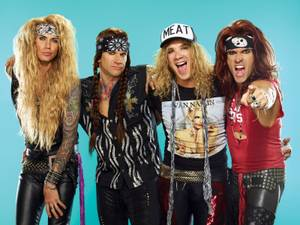 Steel Panther back up their parody antics with serious musical skills.