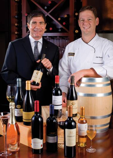 Master Sommelier George Miliotes and Executive Chef Jim Nuetzi.