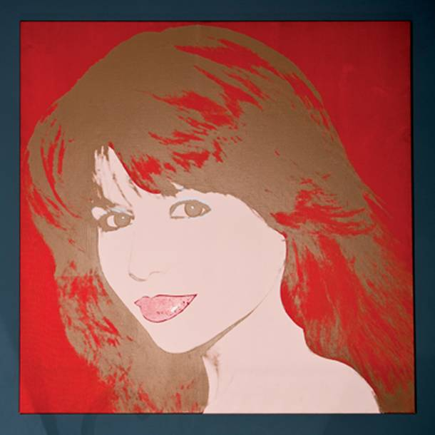 An Andy Warhol artwork of Pia Zadora as seen in her home July 19, 2012.