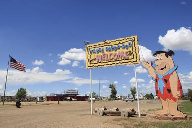 At Bedrock City in Williams, Arizona, the Stone-Age cartoon comes to life.