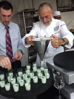 Hubert Keller serves up snacks at the annual culinary festival, which featured lots of top Vegas talent this year.