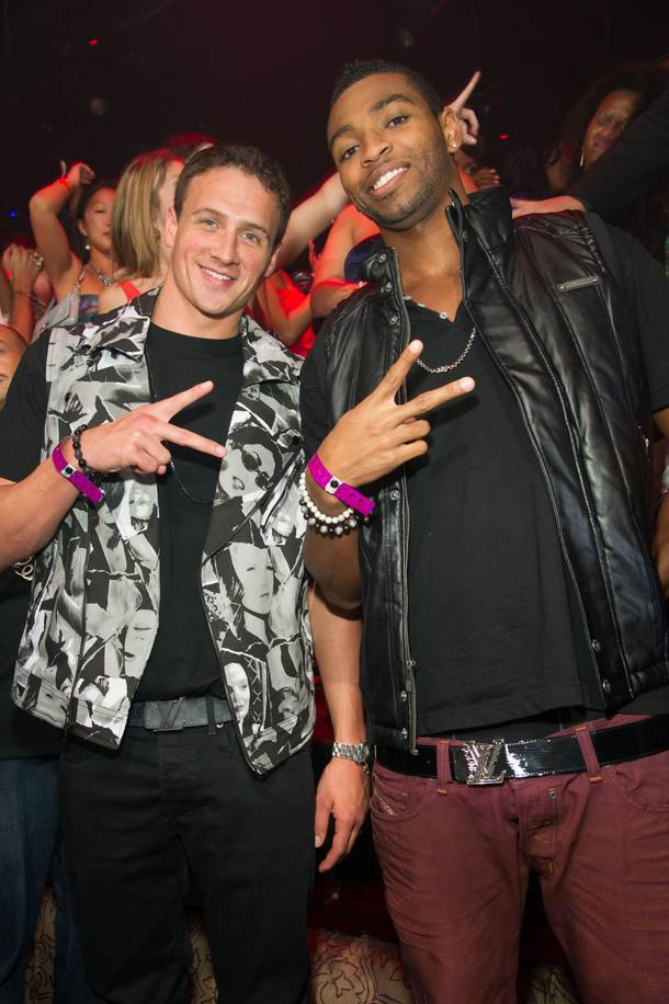 Lochte and fellow Team USA swimmer Cullen Jones at Tao.