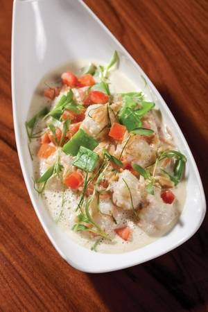 Fleur's coconut rock shrimp dish balances traditional Thai flavors.