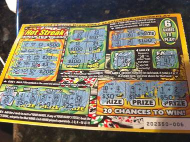 New Lotto tickets stretch out the excitement.