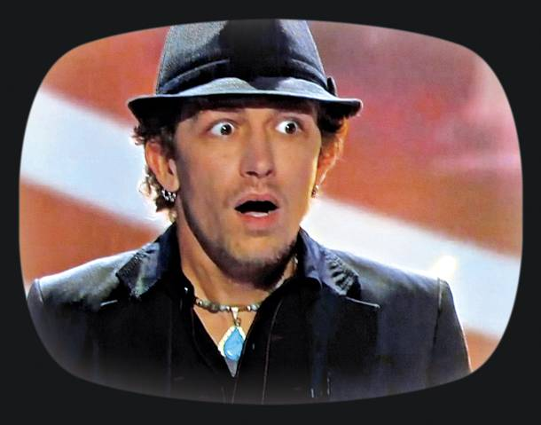 This is the face of utter surprise: Michael Grimm on America's Got Talent in 2010.