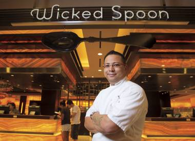Cosmopolitan chef de cuisine Gerald Chin oversees several restaurants at the resort, including the acclaimed Wicked Spoon buffet.