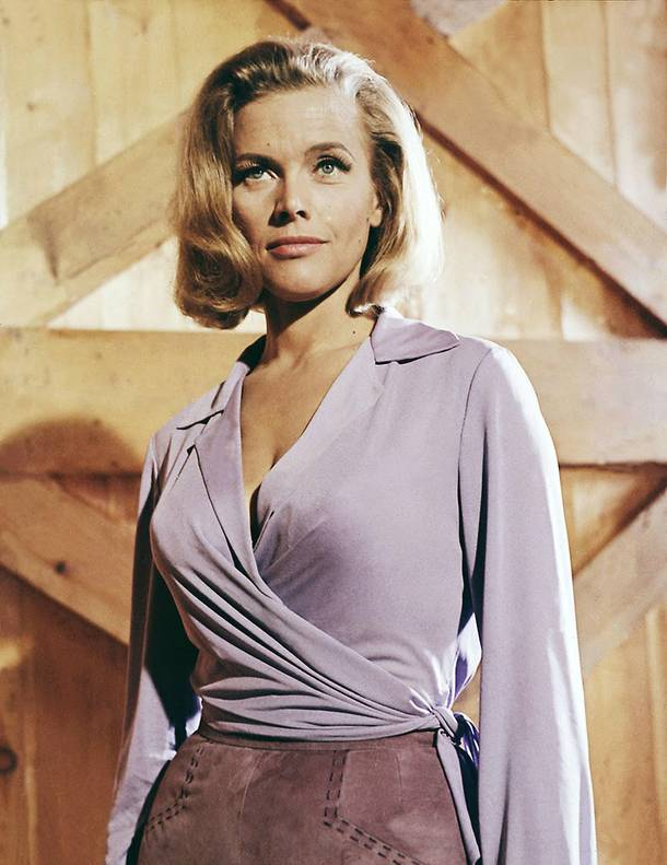 The best Bond girl name ever: Pussy Galore (Honor Blackman)