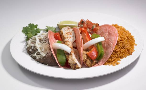 Pink fajitas are on the menu at all Station Casinos Mexican restaurants this month.