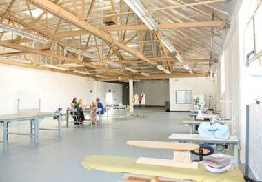 The Fashion Lab is a shared space for designers.