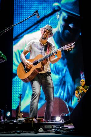 Jason Mraz performs at Red Rock Resort on Sunday, Oct. 7, 2012.