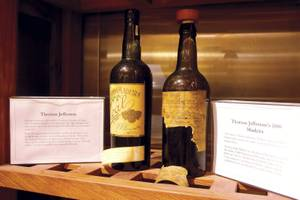 Thomas Jefferson's 1800 Madeira, the oldest bottle of wine in the collection.