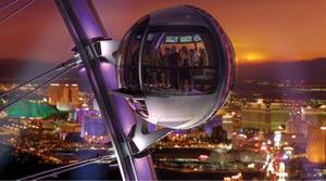 The High Roller observation wheel will feature spherical cabins.