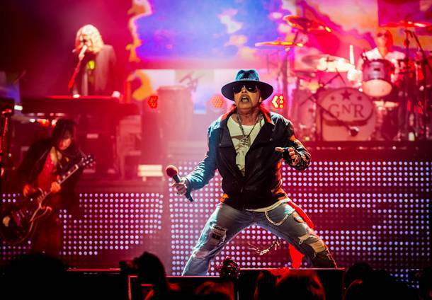 Axl Rose and Guns N' Roses play the Joint 10 more times in November.
