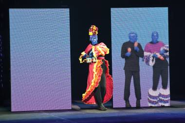 More color: The Blue Man Group changed venues, but still puts on a great show.