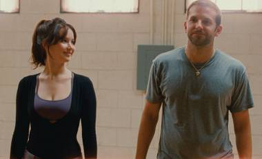 Bradley Cooper and Jennifer Lawrence are crazy … in love in Silver Linings Playbook.