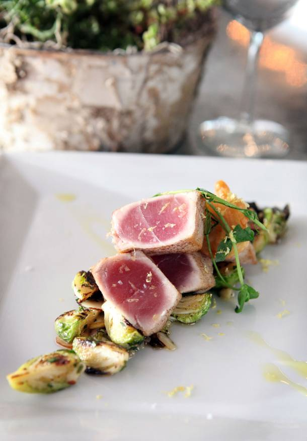 Delicately seared ahi tuna at View Wine Bar & Kitchen.