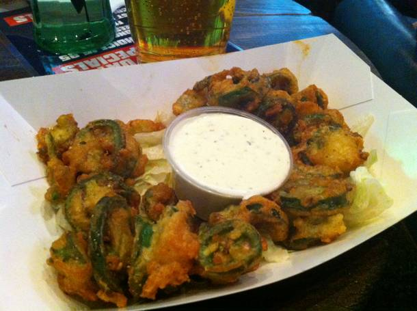 Deep fried jalapenos at Roadrunner Saloon.