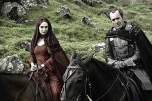 Carice van Houten and Stephen Dillane as two of the literally dozens of characters to keep track of on HBO's dense, sprawling <em>Games of Thrones</em>.