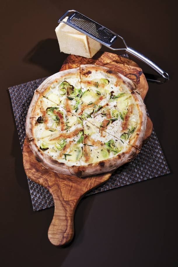 Wolfgang Puck Pizzeria & Cucina's Yukon Gold potato pizza.