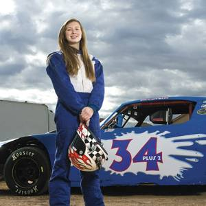 This 15-year-old is fast—she already has her NASCAR license.