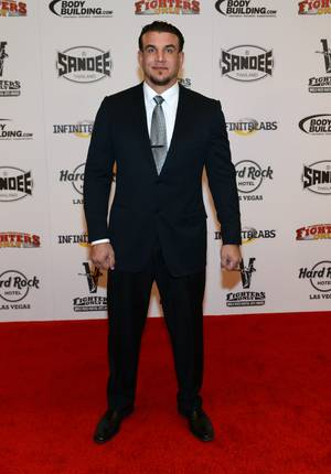 Fighter Frank Mir walks the carpet at the World Mixed Martial Arts Awards, Jan. 11, 2013.