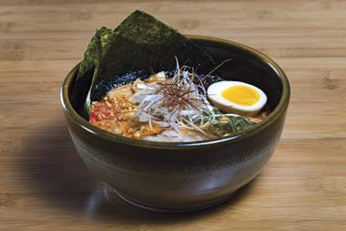 Upgrade your ramen by making the miso spicy at Shoku Ramen-ya.