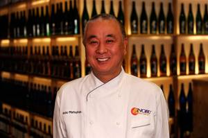 Nobu Matsuhisa is in town to open his brand new Nobu Hotel at Caesars Palace, complete with his largest restaurant in the world.