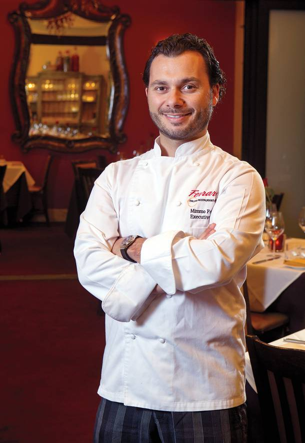 Mimmo Ferraro maintains family traditions while adding new elements to the cuisine at Ferraro's.