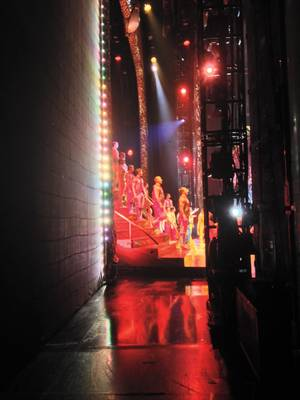 A view from behind the scenes at Cirque du Soleil's <em>Zarkana</em> at Aria.