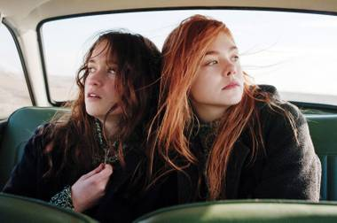 Elle Fanning, left, and Alice Englert give great performances in the just-average Ginger & Rosa.