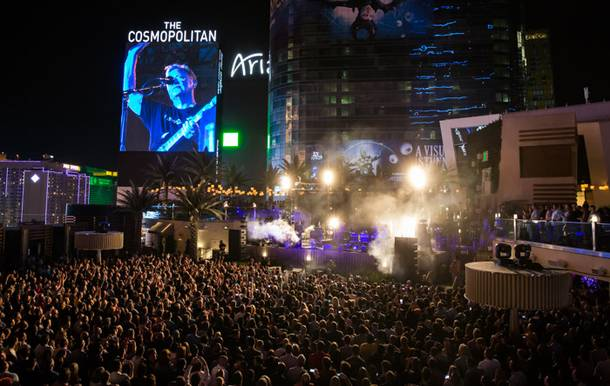 New Order drew one of the largest crowds ever to Cosmopolitan's Boulevard Pool on April 11.