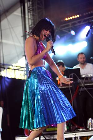 Bat for Lashes was plagued by sound issues early but eventually recovered and delivered a striking, stirring set at Coachella 2013.