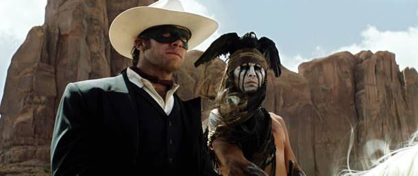 The Lone Ranger's Armie Hammer and Johnny Depp.