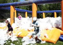 The Foam Fest 5k gets you very dirty and then very clean.