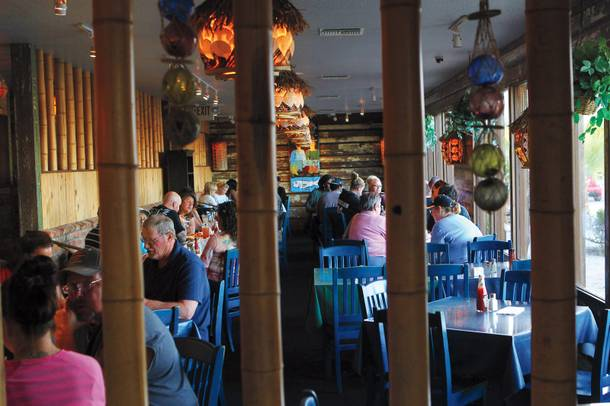 The Hush Puppy's country-style decor is unlike any other restaurant in Las Vegas.