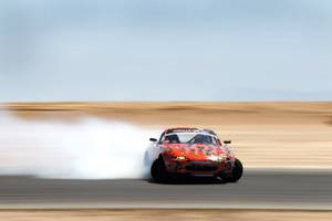"With a Corvette engine, a nitrous tank and Hankook tires that make beautiful smoke, the Miata earns its nickname: ""the beast."""